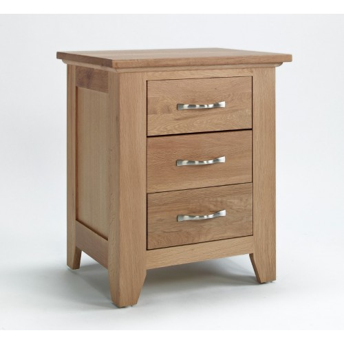 Sherwood Oak Bedside 3 drawer