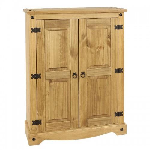 2 door cupboard unit corona premium waxed pine