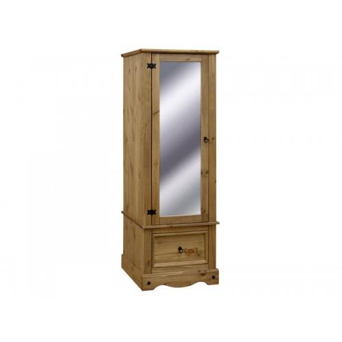 armoire with mirrored door corona premium waxed pine