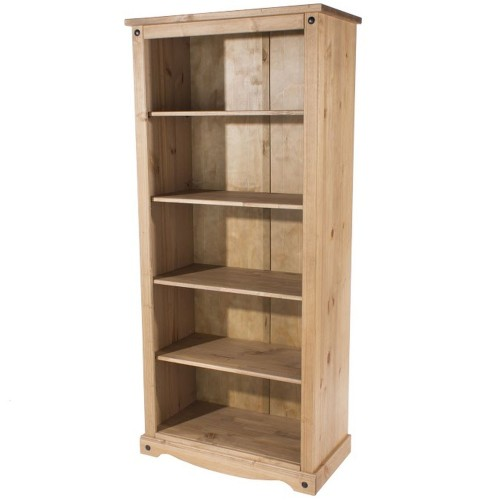 open bookcase corona premium waxed pine