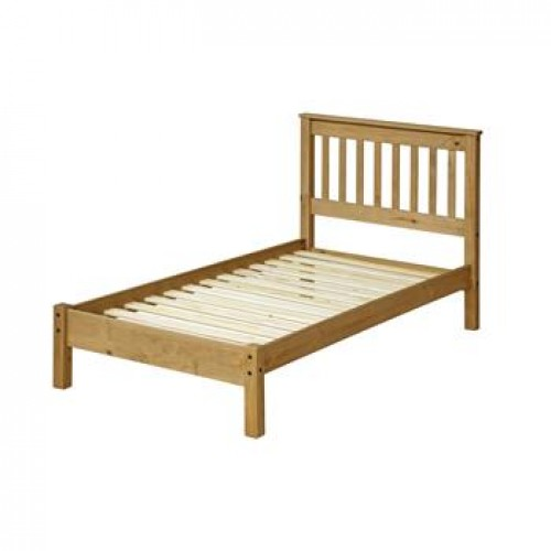 "3'0"" slatted lowend bedstead cotswold waxed pine"