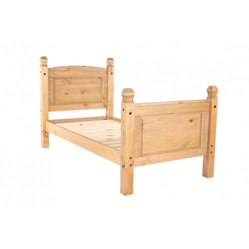 3' high end bedstead cotswold waxed pine