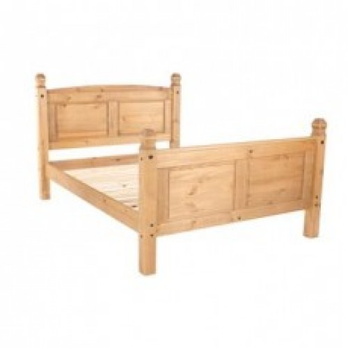 """4'6"""" high end bedstead cotswold waxed pine"""
