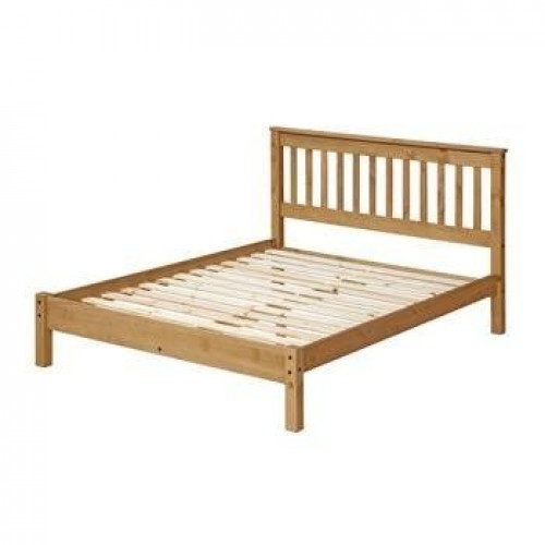 "4'6"" slatted lowend bedstead cotswold waxed pine"