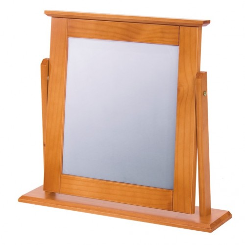 single mirror antique pine