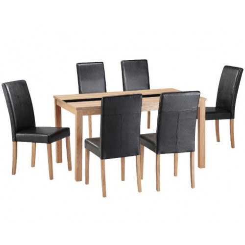 ASHFORD DINING SET (6 CHAIRS)