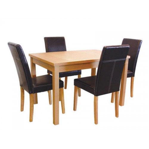 OAKRIDGE MEDIUM TABLE & 4 CHAIRS (SET)