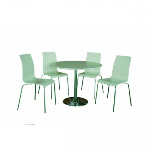 SOHO DINING SET WALNUT & OAK (4 SEATER)